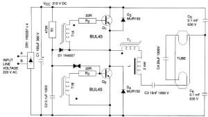 Skema Rangkaian Ballast Elektronik,jual ballast elektronik,harga ballast elektronik,beli ballast elektronik,merakit ballast elektronik,membuat ballat elektronik