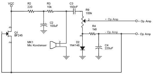 Sensor Taraf Kebisingan Suara,Rangkaian Sensor Taraf Kebisingan Suara,komponen Sensor Taraf Kebisingan Suara,