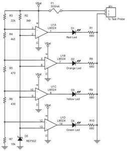 Rangkaian Tester Akumulator 12V