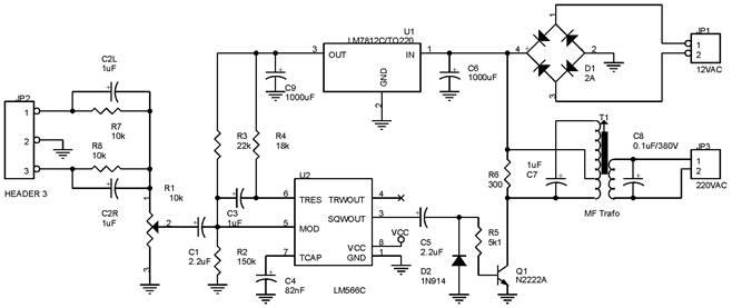 Rangkaian Transmitter Remote Speaker
