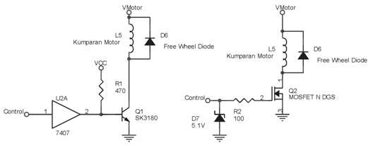 Rangkaian Sederhana Penggerak Motor Stepper