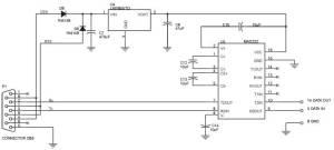 Skematik Diagram Interface Handphone S10 dan S11 dengan PC