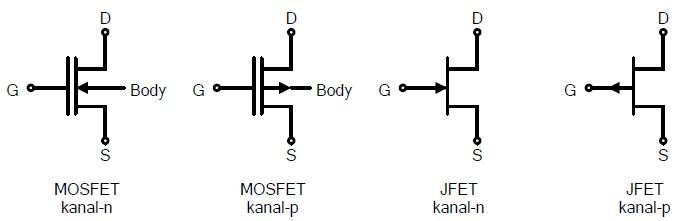 Diagram skematik FET