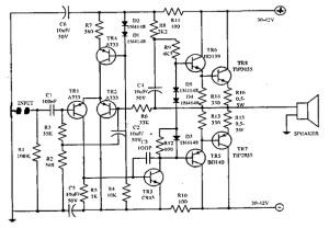 Rangkaian Power OCL 150 Watt