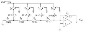 Rangkaian R/2R Ladder DAC