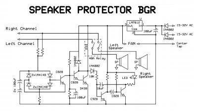 Skema Rangkaian Speaker Protektor