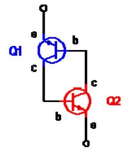 Visualisasi Thyristor Dengan Transistor