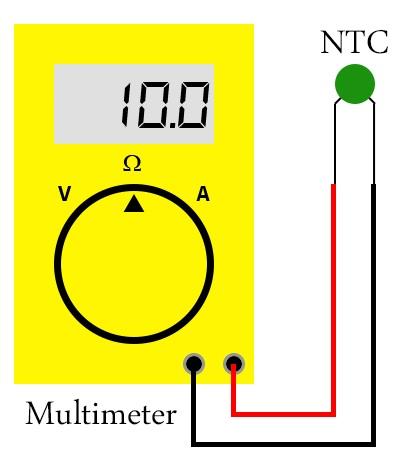Mengukur NTC Dengan Multimeter