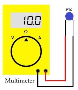 Mengukur Termistor PTC Menggunakan Multimeter