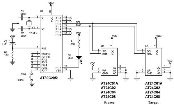 I2C Serial EEPROM Copier,rangkaian I2C Serial EEPROM Copier,I2c serial eeprom copier,i2c serial eeprom programmer,membuat rangkaian I2c serial eeprom,modul I2c serial eeprom,harga I2c serial eeprom,beli I2c serial eeprom,jual I2c serial eeprom,kit I2c serial eeprom,cara membuat I2c serial eeprom,menggunakan I2c serial eeprom