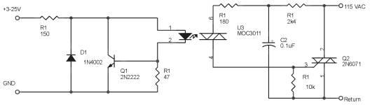 Rangkaian Ekuivalen Solid State Relay