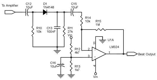 Rangkaian Penguat Sinyal Pada Detektor Logam Dengan Metode Beat Frequency