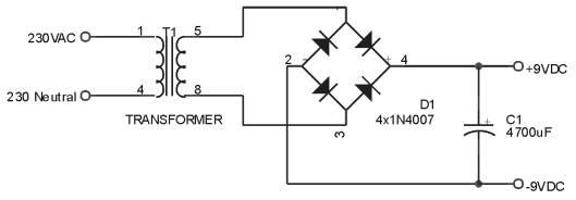 Rangkaian Power Supply Dimmer